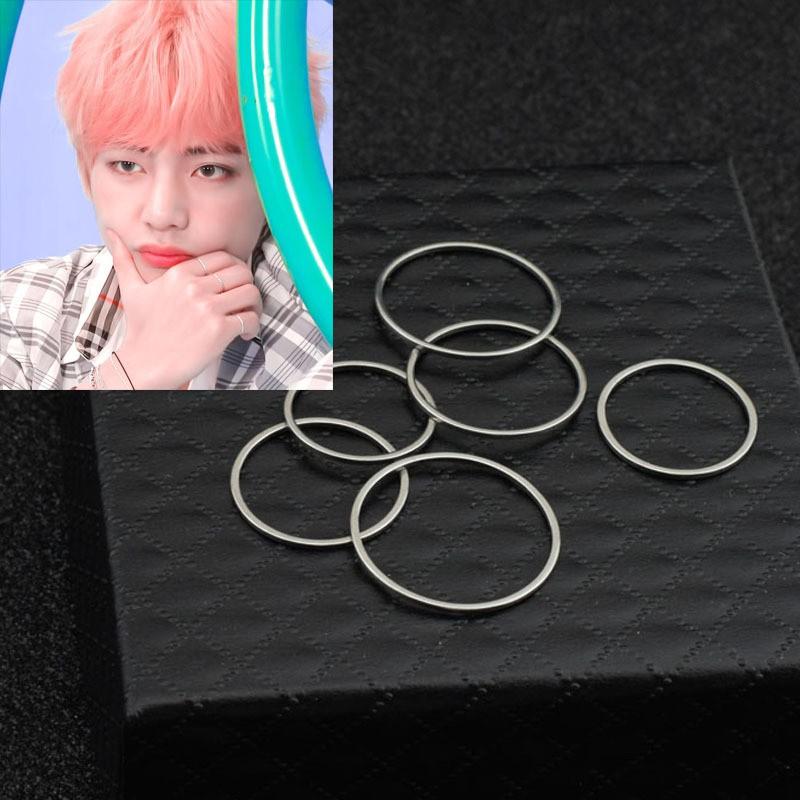 Kpop BTS V Same Style Finger Ring BANGTAN BOYS Unisex Ring