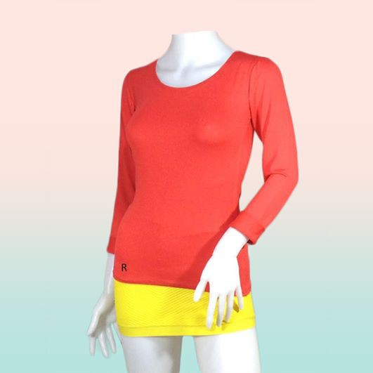 7b0e1218 Scoop Back Long Sleeve Womens Top FTB | Shopee Philippines