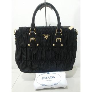 09a4d340d5e3 ... reduced prada tessuto nylon gauffre satchel bag bn1336 23003 46376