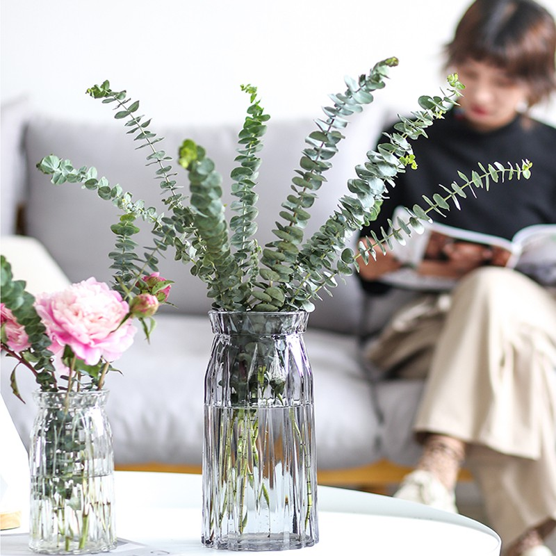 Vase Decoration Living Room Flower Arrangement Small Dried Flowers Large Transparent Glass Nordic Ins Feng Shui Raising Wealth Bamboo Simple And Modern Shopee Philippines
