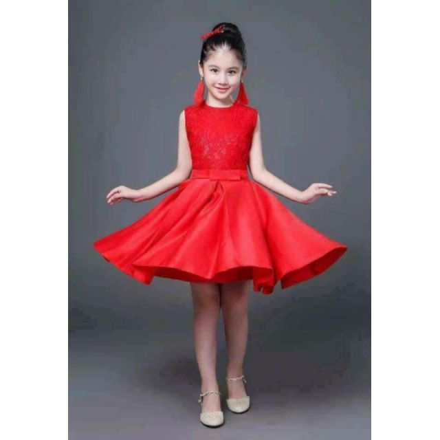 Elegant Red scralet dress for kids for