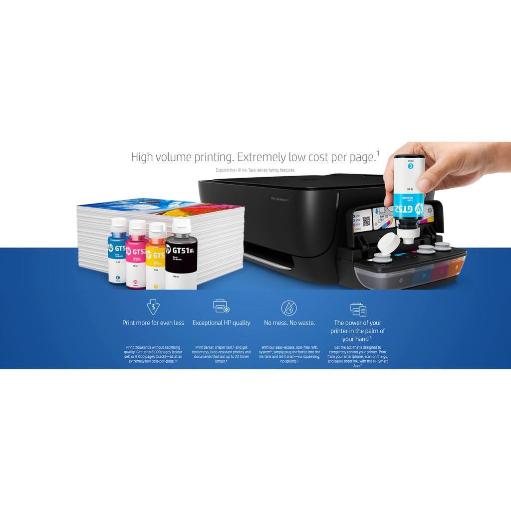 Hp Gt51 Black Gt52 Cmy Original Ink Bottle Shopee Philippines Tinta Printer Gt 51