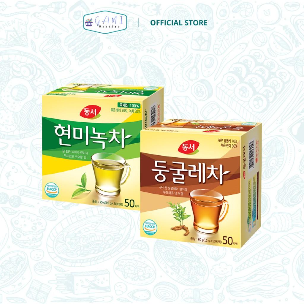 Dongsuh Korea Brown Rice Tea Green Tea & Solomon's Seal Tea   32 and 32 Tea  Bags