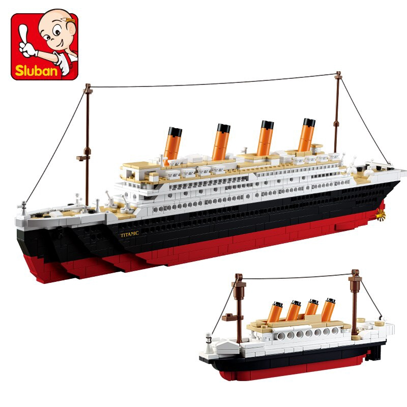 88988d0d 1021Pcs Titanic Ship Building Blocks Sets Toys Boat Model
