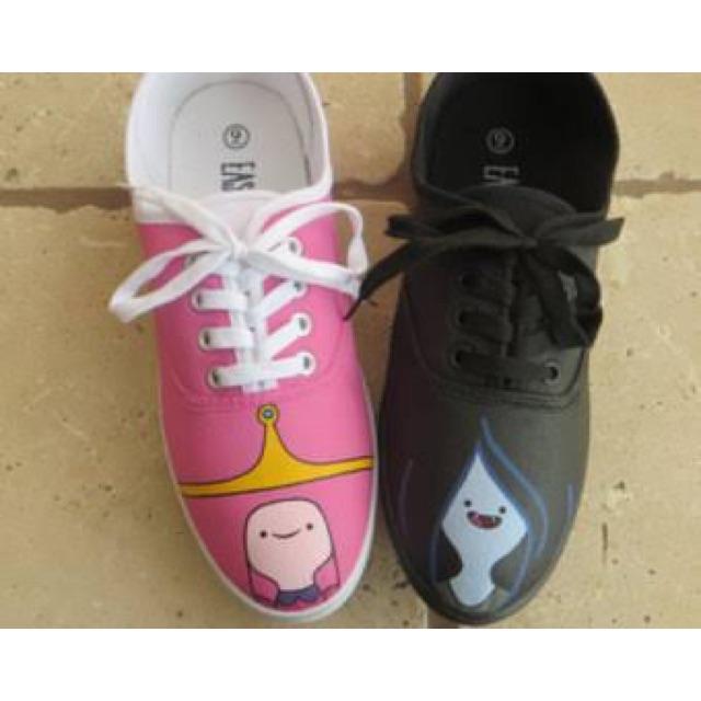 Princess BubblegumMarceline Adventure Time HandPaintedshoes