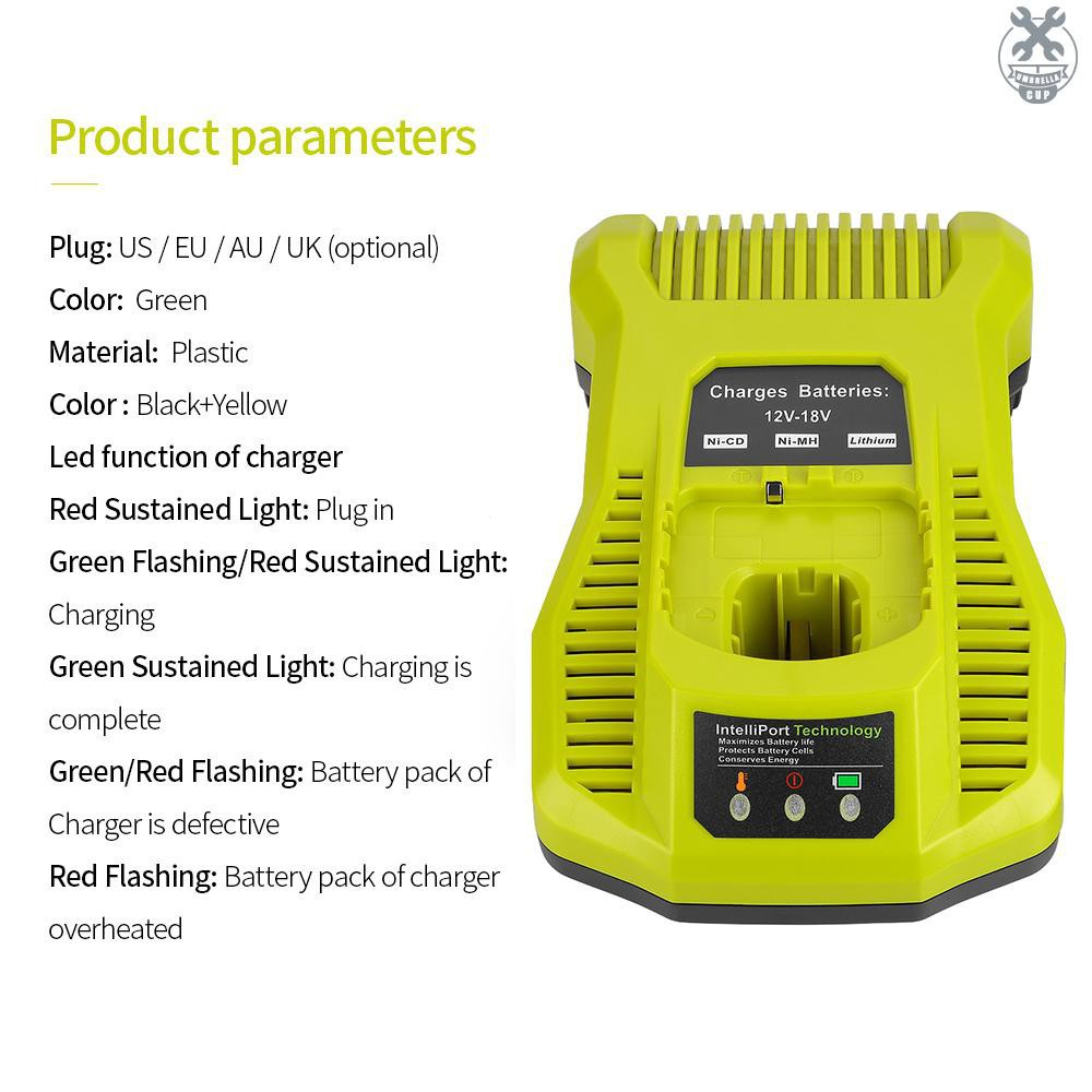 Umbr Dual Chemistry Intelliport Charger For All Ryobi 12v 18v One Lithium Battery Nicad Universal Battery Charger Ry Shopee Philippines