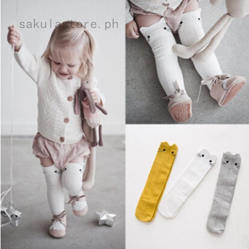 Stockings Soft Cartoon Knee High Socks Leg Warmer Tights Baby Toddlers Kids