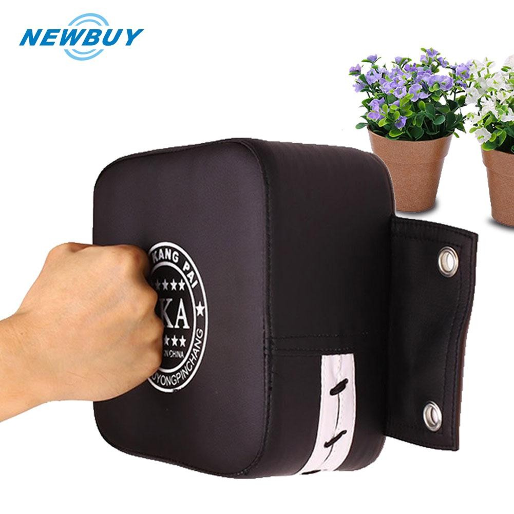 Faux Leather Muay Thai Kick Boxing Training Punch Pad Hand Focus Target Flowery