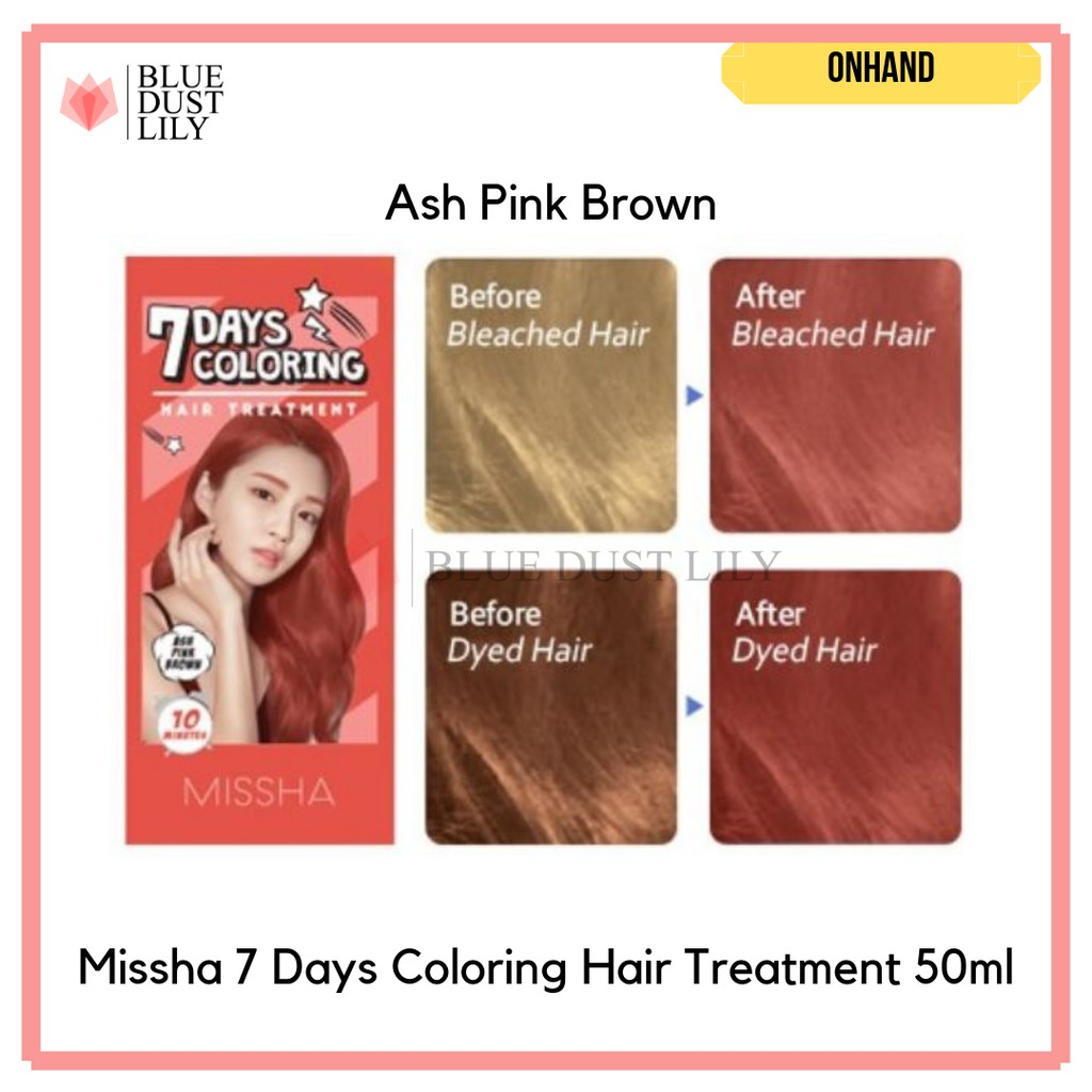 Missha 7 Days Coloring Hair Treatment 50ml Shopee Philippines