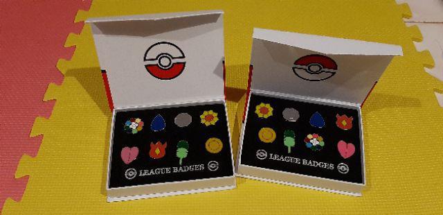 IHT-Cosplay POKEMON Gym Badges in box Indigo League Set