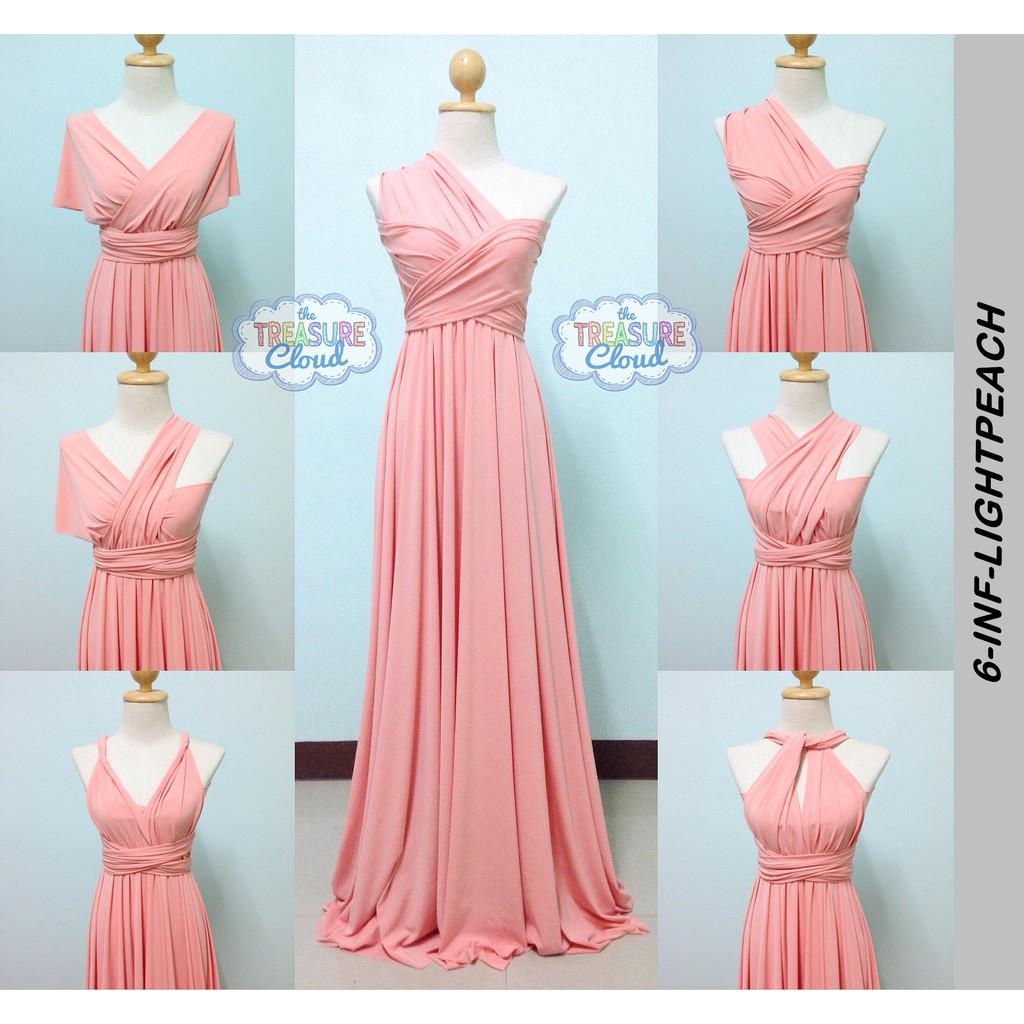 Light Peach Infinity Dresses Bridesmaid