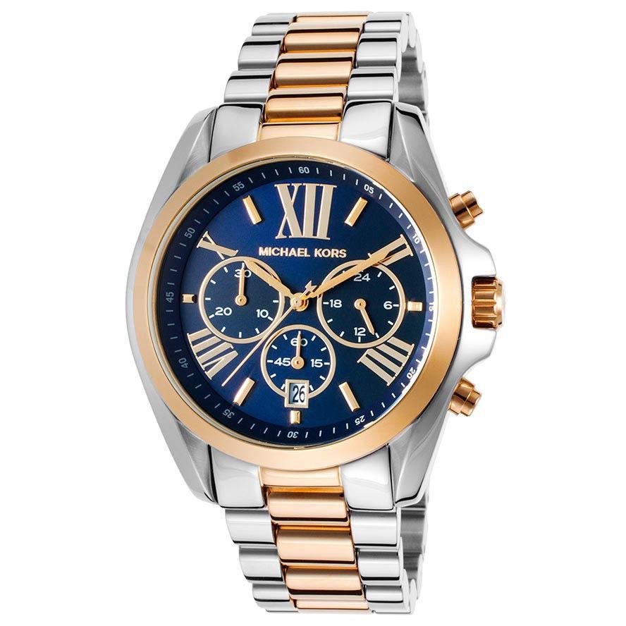 7f8c77332608 MICHAEL KORS MK6268 Bradshaw Blue Dial Chronograph Watch
