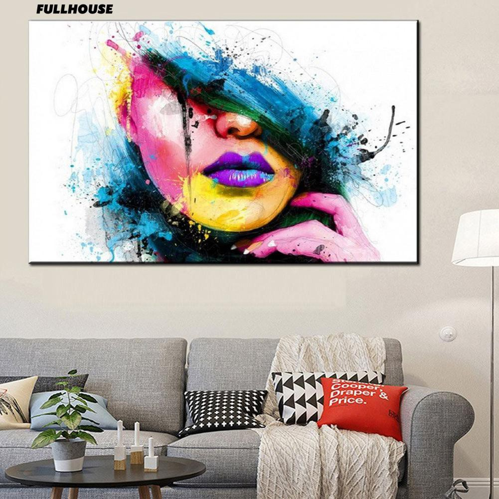 Women Face Pattern Painting Picture Room Frameless Wall Decor Shopee Philippines