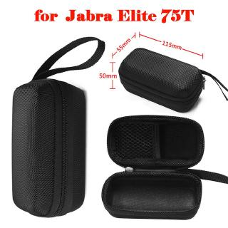 Portable Wireless Earphone Storage Bag Hard Sports Earbuds Carrying Case For Jabra Elite 75t Shopee Philippines