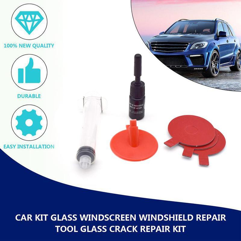1 Set Car Kit Glass Windscreen Windshield Repair Tool Glass Crack Repair Kit