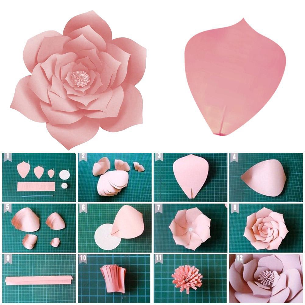 NEW Paper Flower Backdrop Wall Giant DIY Rose Flowers Wedding Party Decor 30 cm