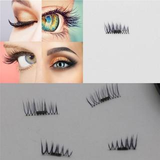 7eb9cb01f7e 4pcs(1Pair)3D Reusable Magnetic Magnet False Eyelashes Natural Eye Lashes
