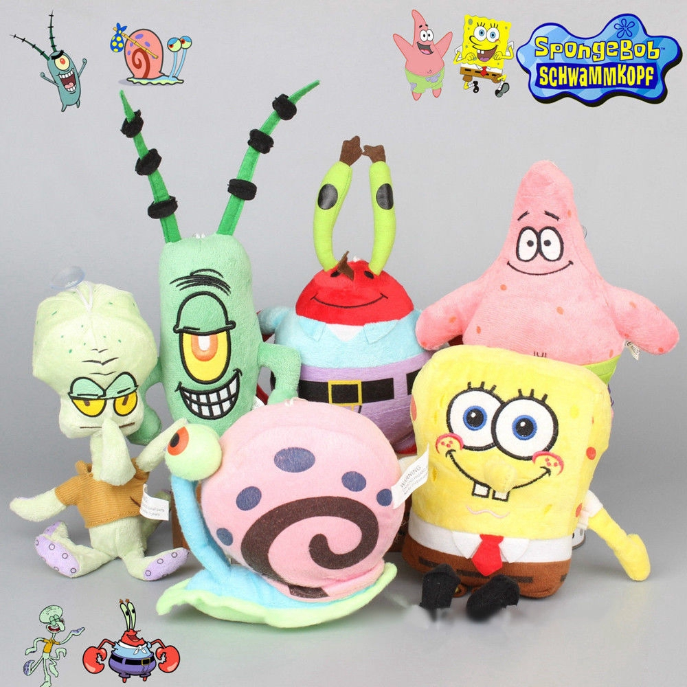 Sponge Bob Creative new 25cm Spongebob And 26 cm Patrick Plush Toy Soft Cartoon