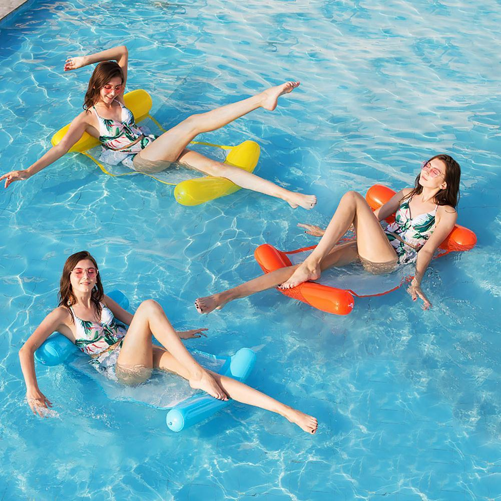 Swimming Inflatable Floating Float Water Hammock Pool Lounge ...