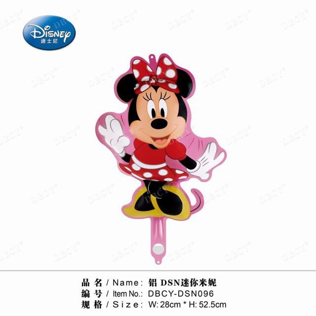 6pcs mini size minnie mouse shape foil balloon668