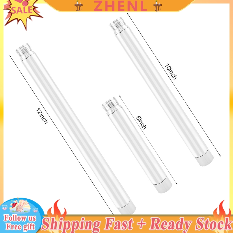 Extension Shower Arm Stainless Steel Extender Tube Shower Head Extension Rod Showerhead Extension Tube Size : 6inch
