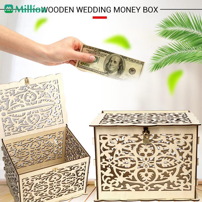 Cod Elegant Wedding Card Box Wedding Money Box Shopee