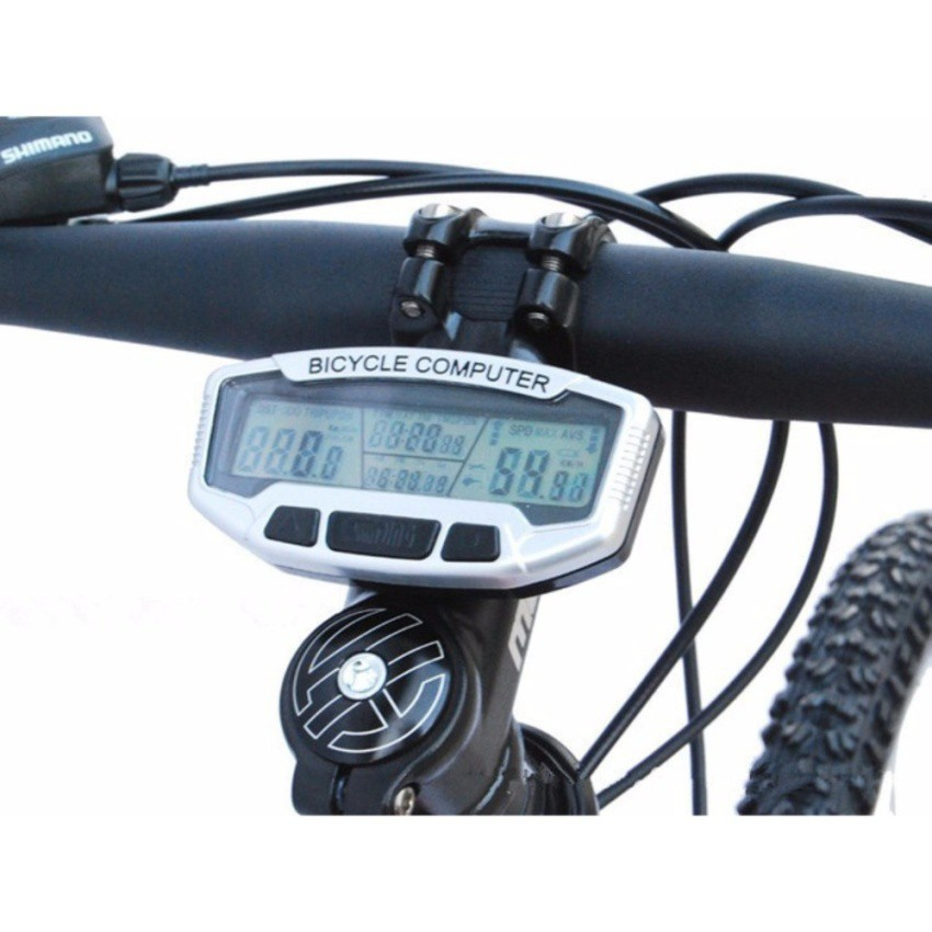 Cycling Bike Wired Cycle LCD Computer Odometer Speedometer Waterproof SD-558A