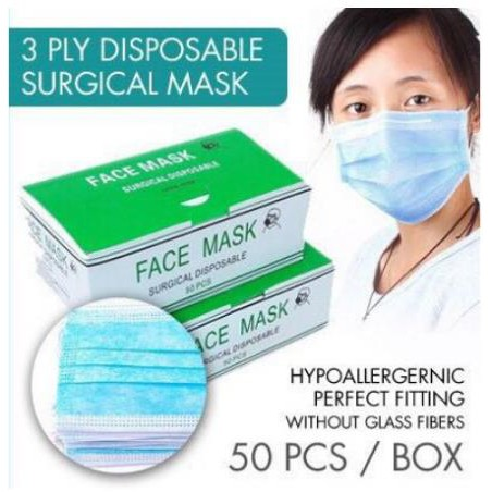 Disposable 50pcs Surgical box Mcneil Easy Medical Face Mask