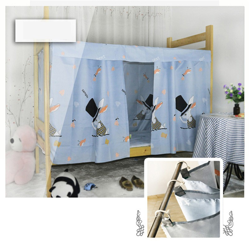 Dormitory Bunk Bed Curtains Dustproof Ventilation Blackout Cloth Mosquito Nets Shading Nets Bed Single Bed Tent Curtain Bed Canopy College Students Dorm Sleep Privacy Bed Spread Blackout Curtains