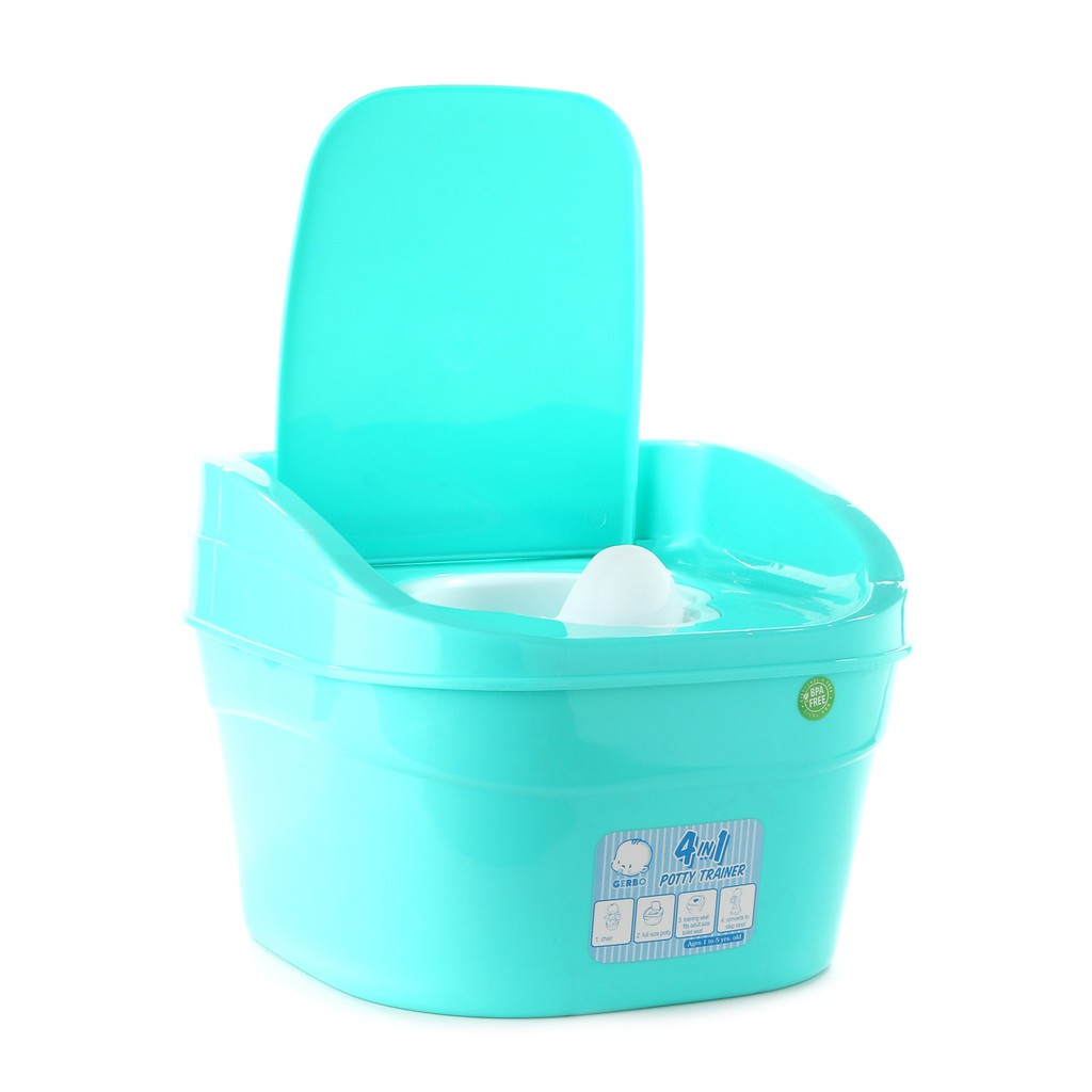 Gerbo 4-in-1 Potty Trainer (Teal)   Shopee Philippines