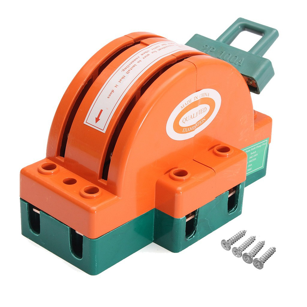 100a Two Pole Disconnect Double Throw Switch Circuit Breaker Backup Cbb Board Generator Shopee Philippines