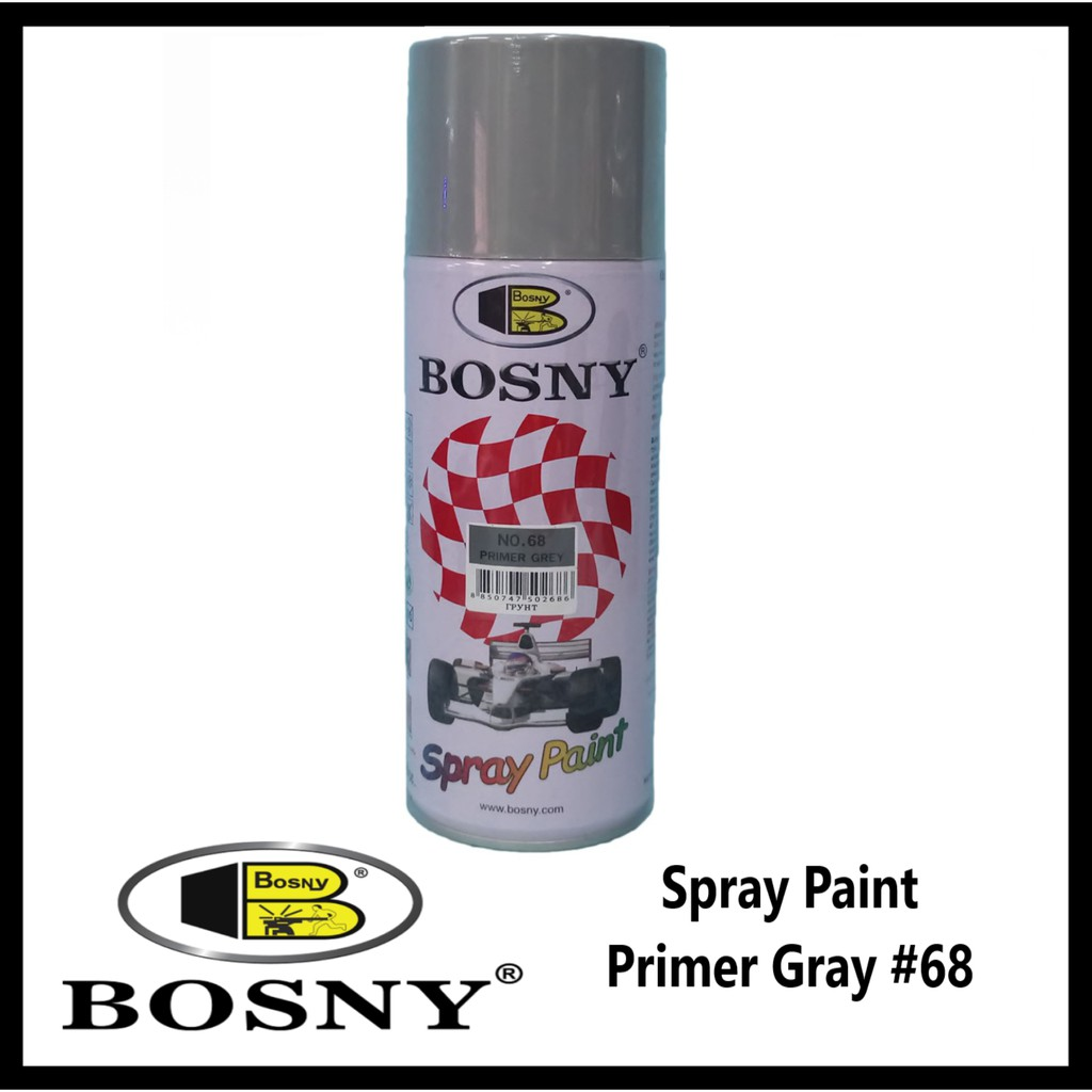 Paint And Primer >> Bosny Spray Paint Primer Gray 68