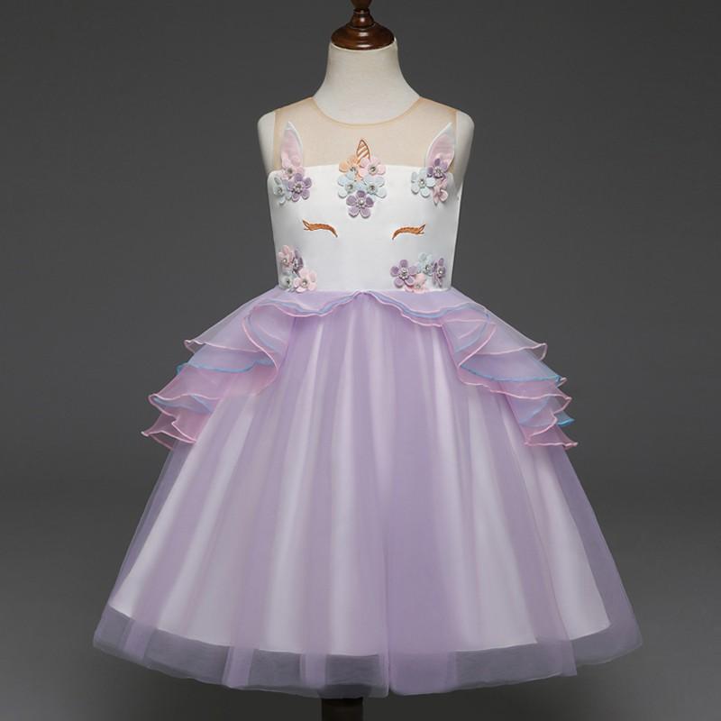 [NNJXD]<b>Children Baby Girl Kids</b> Unicorn Tutu Dress For <b>Wedding</b> ...