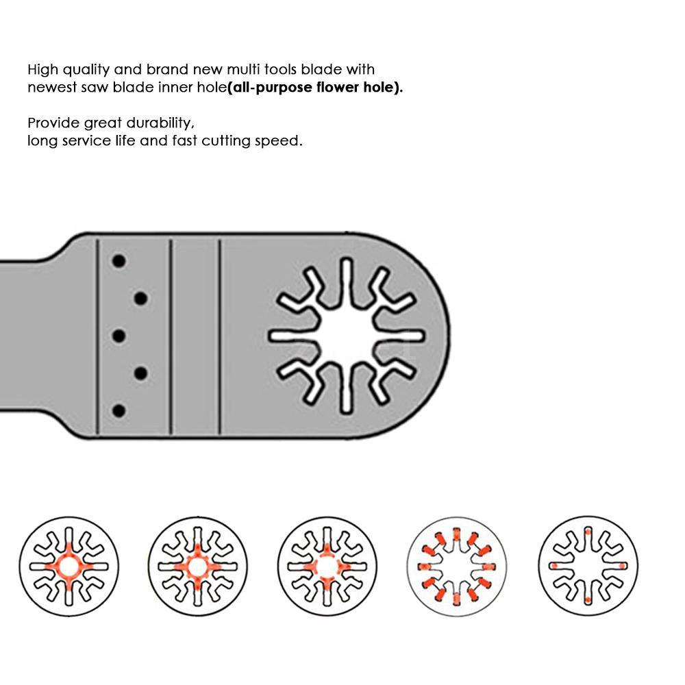 "3pc 3//8/"" SS Detail Oscillating Multi Tool Saw Blade For Dremel Ridgid Ryobi max"