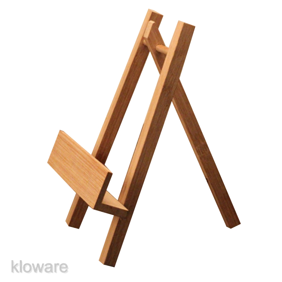 Wooden Plate Stand Easel Holder Display Tea Cake Rack Tea Display Stand