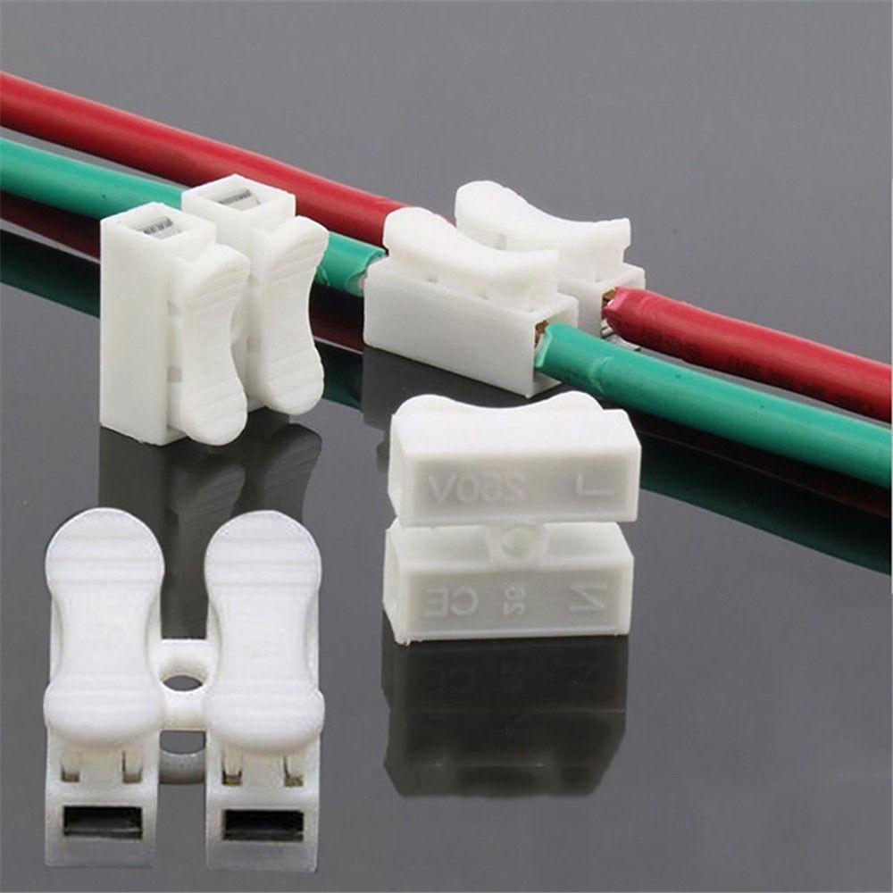 30x Lot Self Locking Electrical Cable Connector Quick Splice Lock Wire Terminal