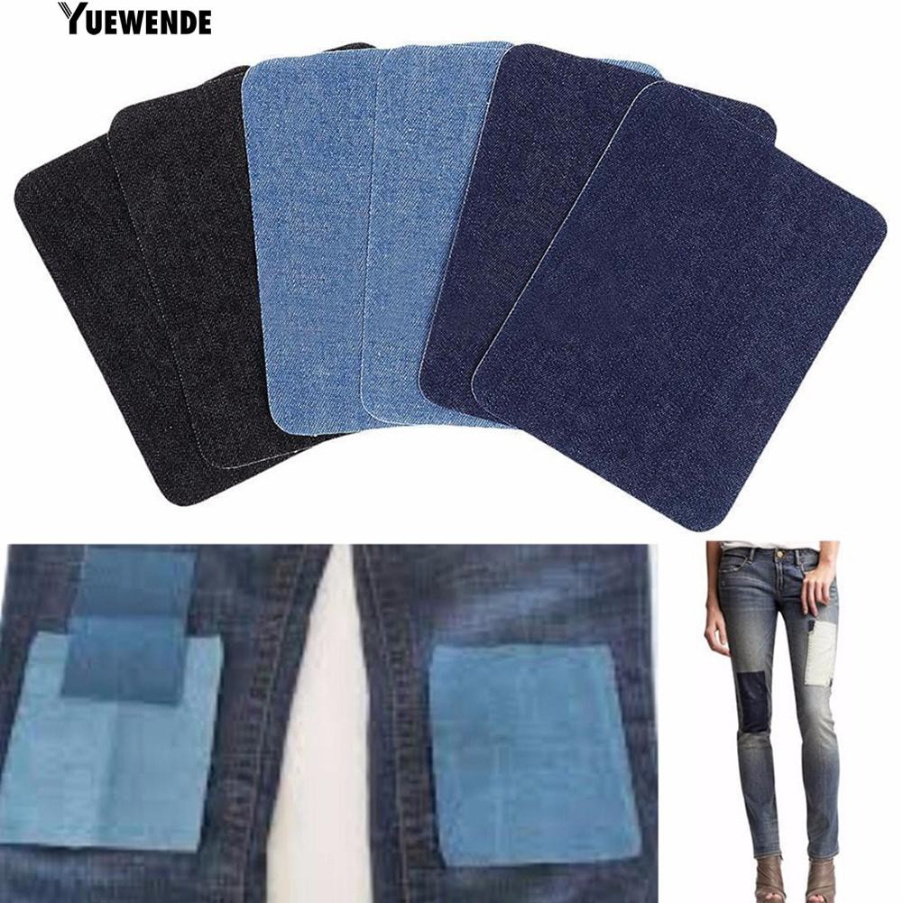 iron-on elbow knee repair decorative denim jeans patches diy sewing applique ZP