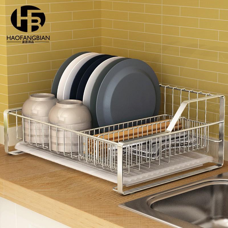 304 Stainless Steel Dish Rack Table Drain Kitchen Rack Dish Shopee Philippines