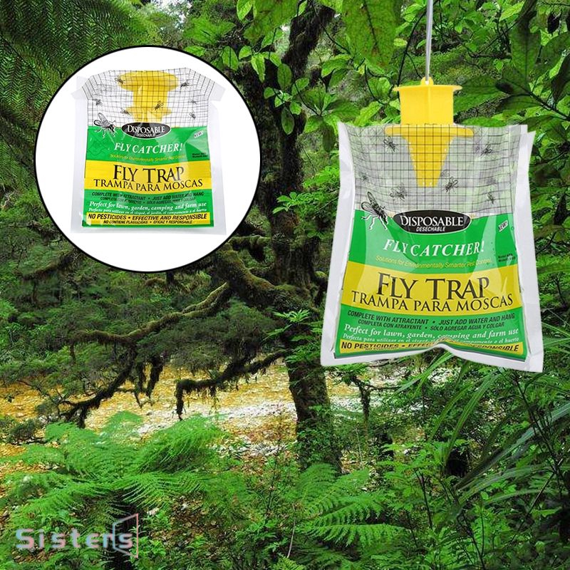 Fly Trap Catcher Bug Insect Pest Control Hanging Bait Bag