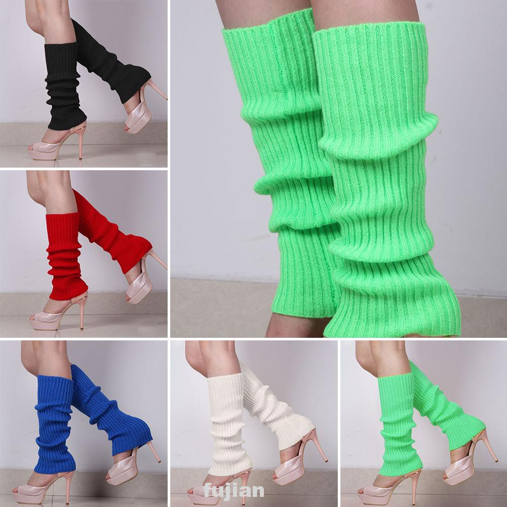 1pair Solid Gift Protective Fashion Party Stretch Autumn Winter Ribbed  Knitted Women Leg Warmer | Shopee Philippines