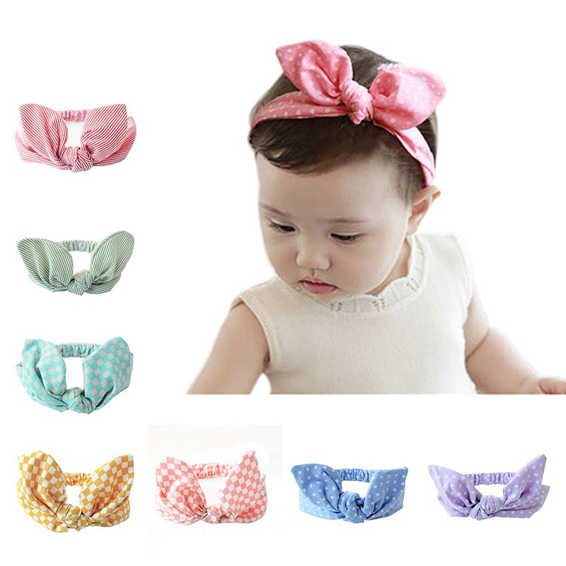 9 Colors Baby Headband Girl Toddler Flower Bowknot Dots Hair Band Hair Accessory