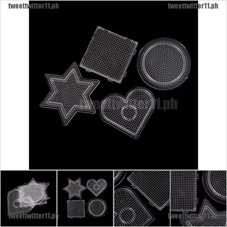 ^ 4Pcs//lot Square Round Star Heart Perler Hama Beads Peg Board Pegboard for2.6mm
