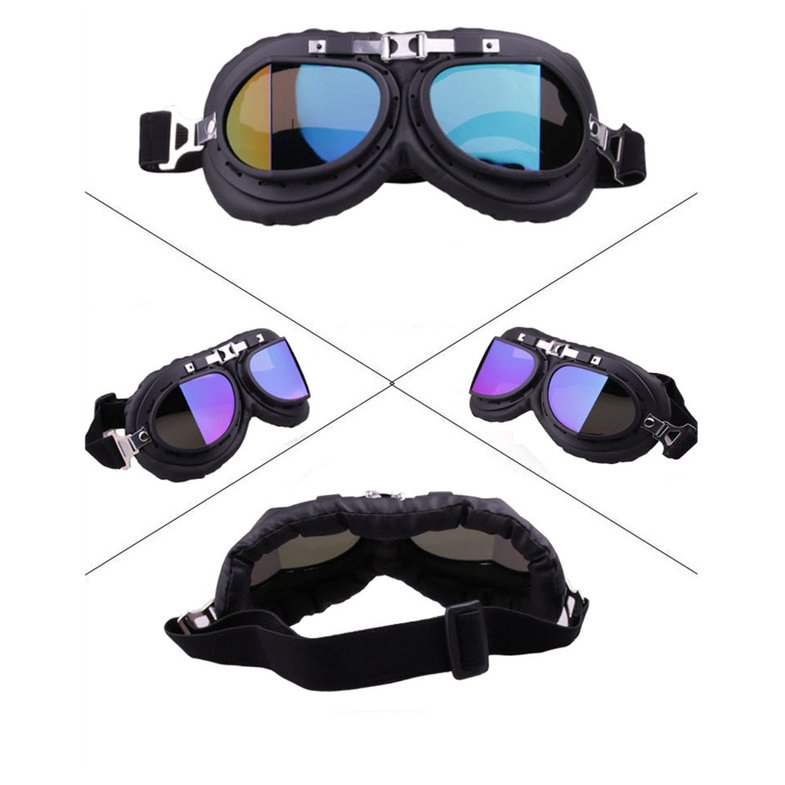 Motorcycle Windshield Anti Fog Lens Fit Over Glasses Safety Goggles Pilot Biker