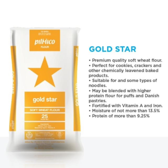 Pilmico Gold Star - Soft Wheat Flour (repacked) 1KG | Shopee Philippines