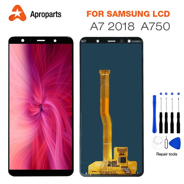 Original LCD For Samsung A7 2018 A750 Display Touch Screen