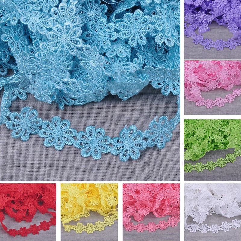 20 Lot Crochet Handmade Flower Appliques Bows Sew Sewing Trim Trimming Craft 1/'/'