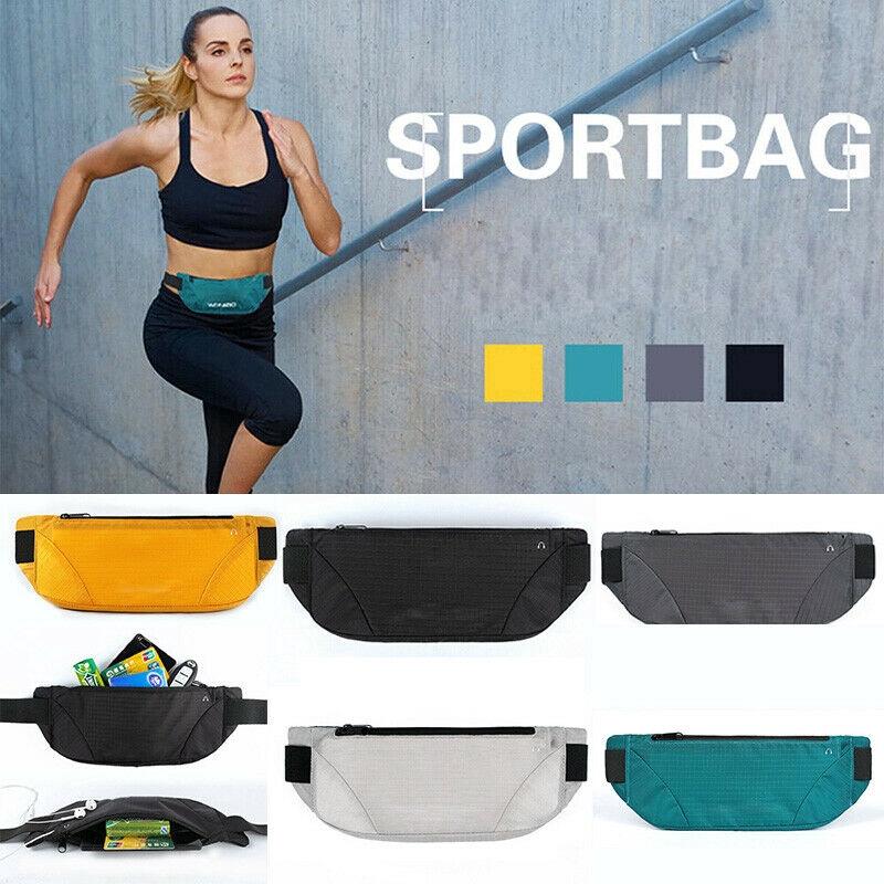 Waterproof Sports Runner Waist Bum Bag Running Jogging Belt Pouch Zip Fanny Pack