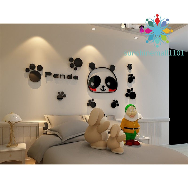 Cute Panda Bear Animal 3d Wall Sticker Mural Decal Kids Room Home Decor Da41 Lib Fib Ugm Ac Id