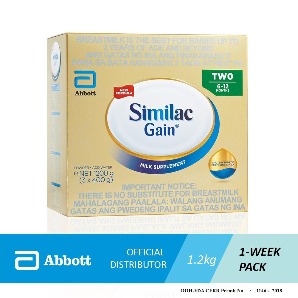 Similac Gain 6 12months 18kg Shopee Philippines Enfagrow A Plus 3 1800 Gram Vanilla Box