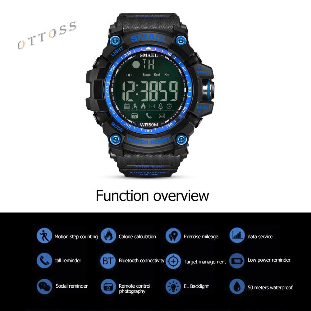 98feaf943 ProductImage. ProductImage. OT#SMAEL 1617B Bluetooth Men Smartwatch